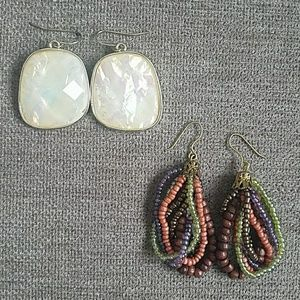 "Set of ""Boho"" Style Earrings"
